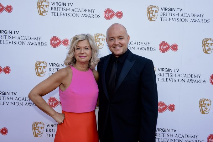Bafta CEO Chantal Rickards pictured with British artist Lincoln Townley at the Virgin TV British Academy Television Awards. Townley refers to Chantal Rickards as one of the most incredible people in television an absolute visionary of what it takes to succeed and make platforms for success in such a competitive market place.