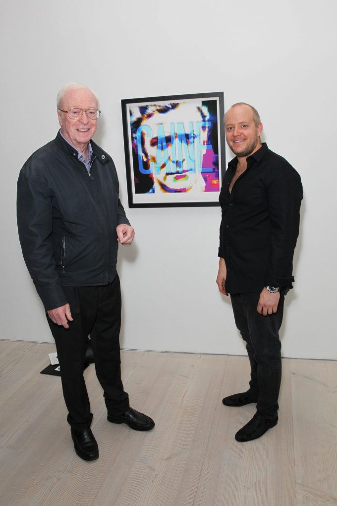 Michael Caine with Lincoln Townley
